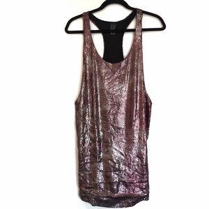 [ZARA] Sequin sleeveless tank top mini dress M